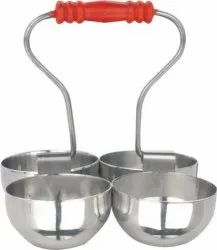 Ketan - Stainless Steel Folding Pickle Pot, Packaging Type: 1 Set