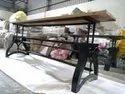 Industrial Furniture Crank Table Base Adjustable Height