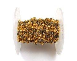 Multi Pyrite Beaded Jewelry Chain