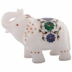 Real Makrana Marble Elephant