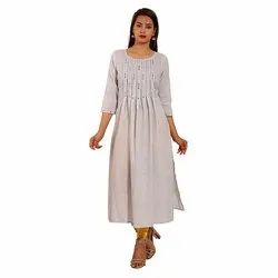 Designer Cotton Gathers Kurti