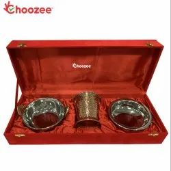 Choozee - Copper Stainless Steel Handi, Bucket and Kadhai Set (600 ML)