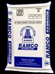 OPC (Ordinary Portland Cement) 53 Grade OPC Ramco Cement, Cement Grade: Grade 53