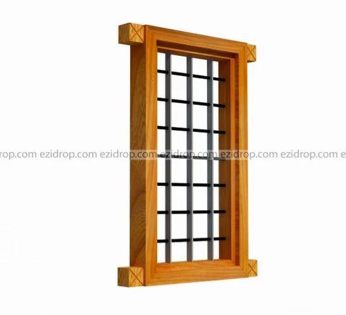 Brown Eziwood Kw1 Kitchen Window Frame Single Leaf Dimension Size 50cm X 100cm Rs 2300 Piece Id 19403863897
