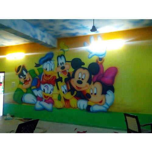School Mickey Mouse Wall Painting Service