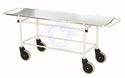 Standard Steel White Stretcher Trolley, Size: 2100x550x150