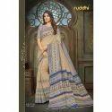 Ladies Pure Manipuram Silk Printed Banarasi Saree, Length: 5.5 M