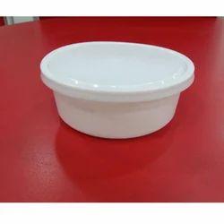 Milky Plastic Round Container