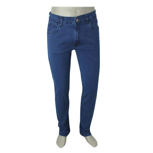 Comfort Fit Blue Casual Jeans