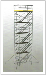 Aluminium Mobile Scaffold Tower With Stairway