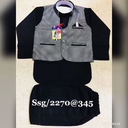 Kids Black Kurta Pajama