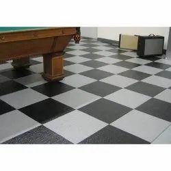 White,Black PVC Floor Carpet, Matte