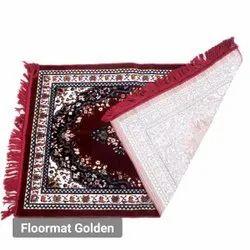 Hand Knotted Floor Mat Golden Cotton Carpet, Size: 7 X 9 Feet