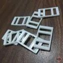 No 9401 Plastic Square Buckles White