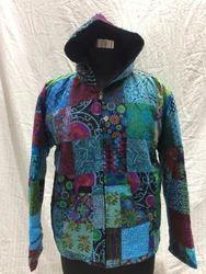 Assorted Freesize Unisex Patch Zip Jacket With Hood