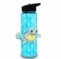Squirtle Blue Colored Water Bottle with Black Lid