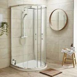 Volga D Shape Glass Shower Enclosure