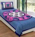 Jaipuri Single Cotton Bedsheet Paisley Print