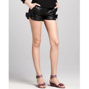 Ladies Fancy Leather Short