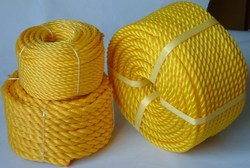 Yellow Flexible PP Ropes, Usage: Industrial, Rescue Operation, Marine