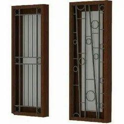Wood Rectangular Mild Steel Safety Window