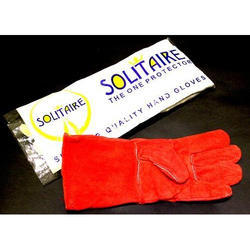Solitaire Winter Leather Gloves