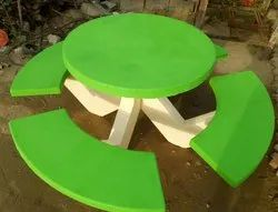 Concrete Circular Table With Seats