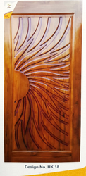 Finished Teak Door, Size: 81X36