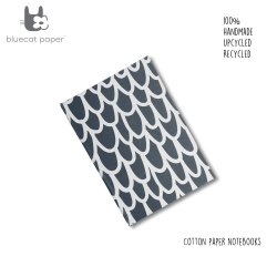 Unique Handmade Dark Grey Notebook With Off-White Big 'U' Print