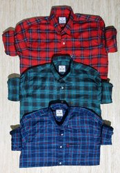 Checked Casual Twill cotton shirt, Size: M,XL