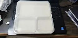 Polycarbonate 3 Portion Thali With Lid