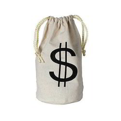White And Black Promotional Cloth Coin Bags