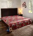 Decorative Cotton Paisley Printed Kantha Bed Cover