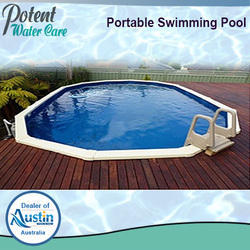 Portable FRP Swimming Pool for Hotels, Dimension: 18.4 x 9.9 x 4.3 and 20.4 x 11.8 x 4.3 ft