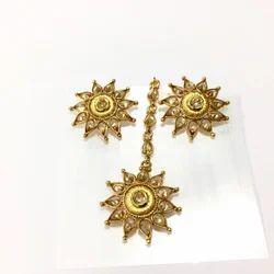 Golden Earring Tikka Set