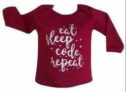 Maroon Hosiery Sparkling Silver Print Baby T-Shirt