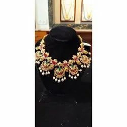 Gold Emerald Ruby Necklace
