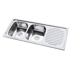 SS Double Bowl Sink with Drainboard