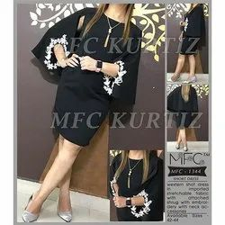 Cotton Party Wear MFC 1344 Western Dress, Size: 42 - 44, Packaging Type: Poly Bag