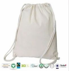 Natural Recycle Organic Cotton Drawstring Bag