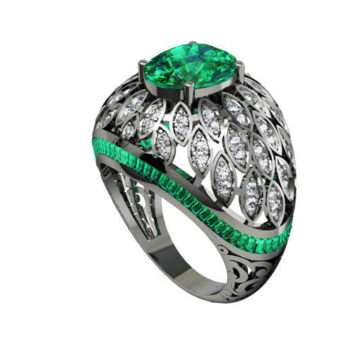 sterling half set irish cz silver ring stone claddagh rings green