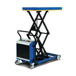 Semi Battery Scissors Movable Lift Table