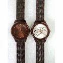 Black Ladies Tone Chain Wrist Watch