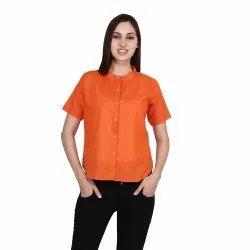Pavnifab Slub Cotton Ladies Formal Shirts, Packaging Type: Packet