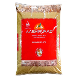 Aashirvaad 5 kg Chakki Atta for Chapatis, Packaging: Plastic Bag