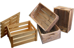 Fruits Brown WOODEN CRATES, For Industrial