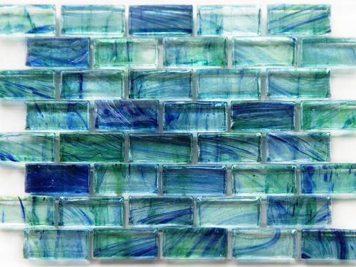 Kajaria Agl Tiles Blue Multicolored Gl Wall Tile Size In Cm