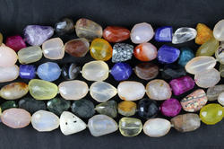 Mix Stones Faceted Gemstone Beads For Jewellery Making