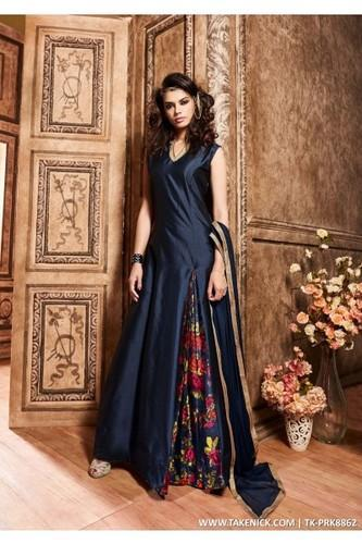 Indian Prom Dresses Evening Navy Blue Gown, Size: Free Size, Rs 399 ...