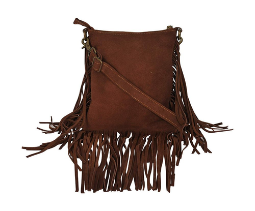 Ladies Fringe Side Leather Bag
